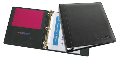 Executive Leather Stitched Binder Letter Size