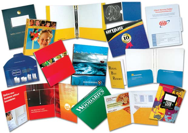 Full Color Paperboard Binders, Portfolios, Folders, Cases
