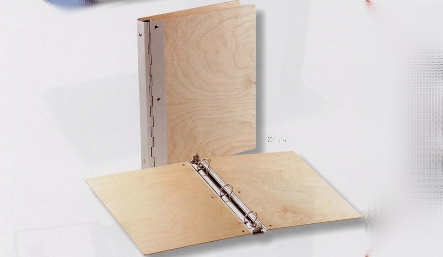 Wood with Metal Hinge Binder Letter Size - Click Image to Close